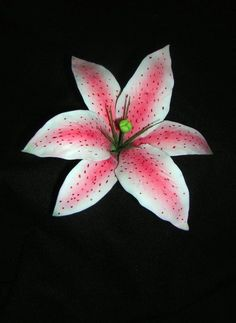How To Make A Gumpaste Stargazer Lily (Asian Lily) - cake decoration - bjl