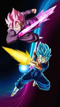 Super Saiyan Gods Goku Black and Vegetto Dragon Ball Z, Dragon Ball Image, Vegito Ssj Blue, Gogeta E Vegito, Goku E Vegeta, Kid Goku, Goku Vs, Kuroko, Akira