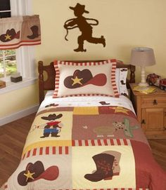 Cowboy Decal Little Boy Rodeo Wall Art Decal Kids by Coins4Sale, $12.99