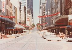 Bourke Street Mall approaches completion in Christmas Vintage Christmas, Christmas Time, Street Mall, Landscape Photos, Historical Photos, Melbourne, Past, Nostalgia, Retail