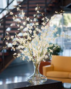 Dancing Oncidium Silk Orchids in White | Add Beauty to Your Interior Space with High Quality Artificial Orchids