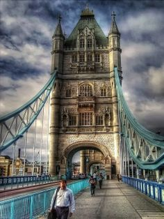 Tower Bridge (built 1886–1894) is a combined bascule and suspension bridge in London which crosses the River Thames.