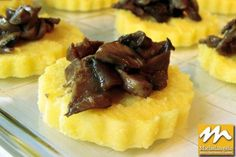 Polenta Crostini with Mushrooms by Chef Michelangelo