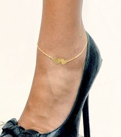 double heart anklet, very simular to what my dad gave my mom engraved