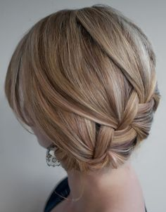 A delicate braided updo