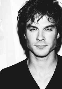 black and white pictures | black and white, blue eyes, boy, damon salvatore - inspiring picture ...