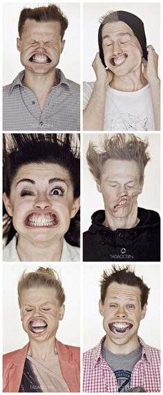 """During the Design Weekend in Vilnius, Lithuanian photographer Tadas Cerniauskas held one of the craziest photo shoots we've ever seen. Visitors to the Tadao Cern studio were invited to participate in an unprecedented photo session called """"Blow Job"""" where a strong current of air was blown into their faces creating some incredibly funny facial expressions"""
