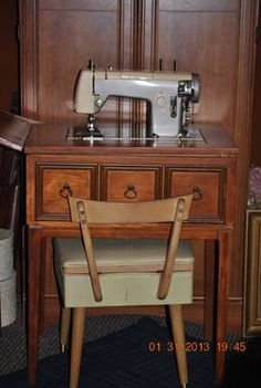 KENMORE sewing machine model 35 rose/pink mahogany cabinet ...