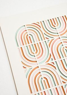 Flip Flop Geometric Laser Cut Artwork by Molly M Designs Boho Pattern, Pattern Art, Print Patterns, Geometric Patterns, Geometric Shapes, Laser Cut Patterns, Abstract Shapes, Geometric Designs, Deco Design
