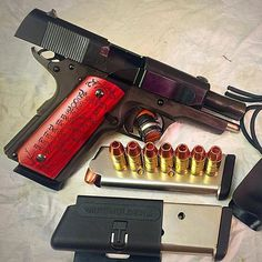 #Repost @aplusslingshots Packing a punch  Great !  Psalm 82:4 laser cut grip...I enjoy all shooting sports and so I thought some others might like seeing my new EDC...Rock Island Armory .45 ACP compact with exotic Redheart wood grips Clipdraw and kydex trigger guard. #armscor #rockislandarmory #clipdraw #1911