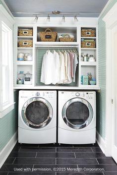 Mint laundry room