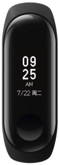 a4b486ea86ac7 شاومي مي سبورت باند 3 جهاز تتبع اللياقة البدنية مع شاشة او ال اي دي ومراقب  ضربات القلب، اسود
