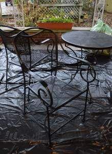 restore metal outdoor furniture to like new wanda painting rh pinterest com au