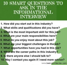 informational interview template