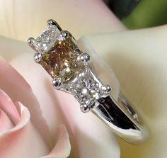 FIERY Beautiful 1.81ct Fancy Intense Yellow Princess Cut Diamond Ring