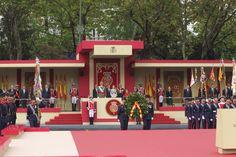 SSMM Los Reyes Felipe VI y Leticia, acompañados de Su Alteza Real la Princesa Leonor y Su Alteza Real la Infanta Sofía presidieron el desfile del día de la fiesta Nacional y la Hispanidad.  12-10-2016