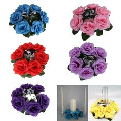 Unity Floral Candle Rings Wedding Festive Flowers Centerpiece Home Decoration