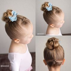 Dance hairstyle! Simple flip in the front and flip in the back into a top knot.