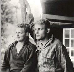 Malarkey, left, with Burr Smith in Austria near war's end. 101st Airborne