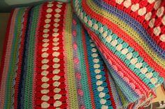 Multi-stitch crochet blanket