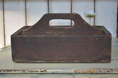 Antique Wooden Carrier   Primitive Carrier  by Vintassentials, $55.00
