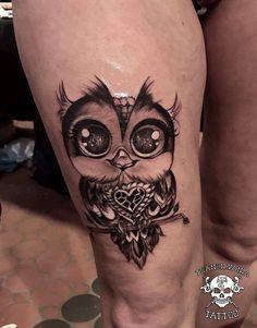 #universe #owl #tattoo #bigeyew #owltattoo #madebyadda