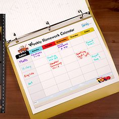 Homework Calendar- Tons of FREE printables!