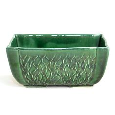 Vintage McCoy Emerald Green Planter: Window box style for herb garden, succulents, bonsai or bamboo! Available from OneRustyNail on Etsy. ► http://www.etsy.com/shop/OneRustyNail
