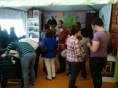 Apertura de la Feria de Cuellar en el Stand de productos de Segovia