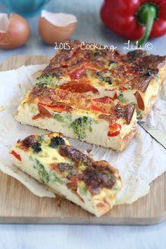flan poivrons tomates brocolis