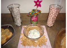 cake batter dip with animal crackers is delish!