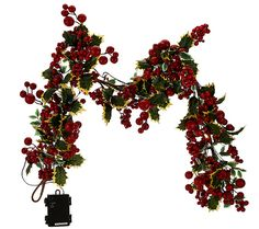 The holly and the ivy. Lifelike red berries of various sizes burst forth among the variegated ivy leaves of this gorgeous piece of holiday decor. QVC.com