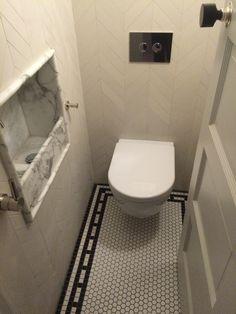 Bespoke basin in powder room Side Return, Cold Shower, Bathroom Design Inspiration, Upstairs Bathrooms, Pilgrim, Powder Room, Basin, Bespoke, Small Spaces