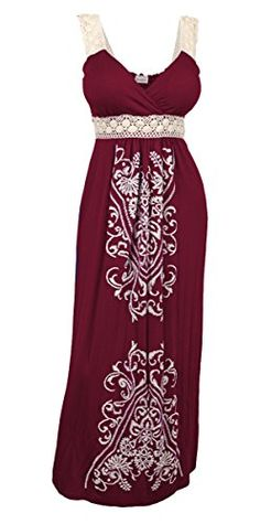 eVogues Plus Size Embroidery Print Empire Waist Maxi Dress Burgundy - 1X eVogues Apparel http://www.amazon.com/dp/B00MIM6ZMK/ref=cm_sw_r_pi_dp_IEzWub0WE5Y5W