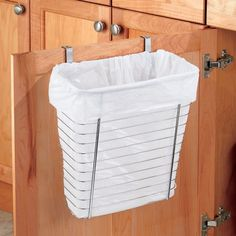 interDesign Axis Over the Cabinet Waste Storage Basket, Silver Get the correct camping equipment for your camping needs Camper Diy, Camper Storage, Camper Hacks, Rv Hacks, Camper Ideas, Camper Trailers, Travel Trailers, Travel Trailer Decor, Storage Ideas For Campers