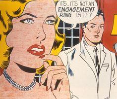 *m. Roy Lichtenstein 1961 - THE ENGAGEMENT RING - Oil on canvas (172 x 202 cm)