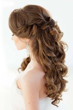 timeless bridal hairstyles | half and half