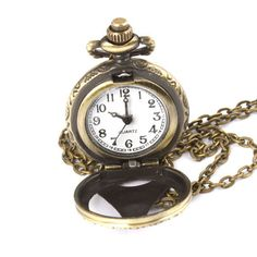 New Steampunk Retro Archaize Wood&Bronze Roman Num Necklace Pendant Mechanical Quartz Pocket Watch Men Women Gift Alternative Measures