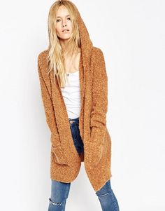 ASOS | ASOS Coatigan In Boucle With Hood