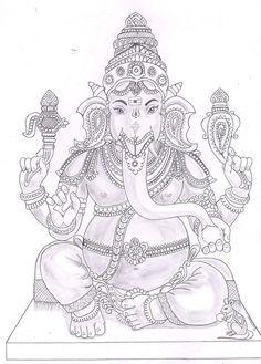Mysore Painting, Kerala Mural Painting, Tanjore Painting, Indian Art Paintings, Ganesha Drawing, Lord Ganesha Paintings, Ganesha Art, Clay Ganesha, Shiva Art