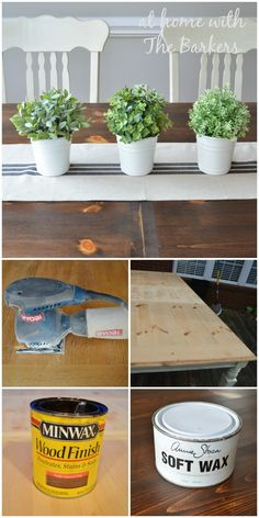 Farmhouse Table Makeover #farmhouse #homedecor #kitchen