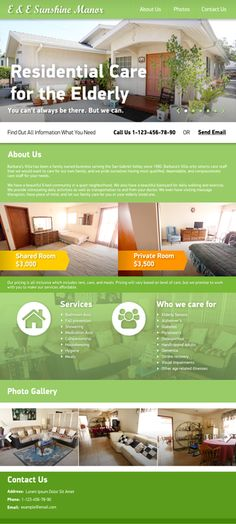 Create a Single Page Website for My Senior Retirement Home. by samsonovroms