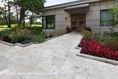 Golf - Pavé-uni - Aménagement paysager, paysagement 450 983-6661  info@jl-paysagement.com  jl-paysagement.com Info, Sidewalk, Outdoor, Lawn, Landscape Fabric, Yard, Landscape Planner, Patio, House