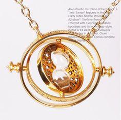 1 pcs/beaucoup., harry potter time turner hermione granger collier en or plaqué tournant tourne sablier pour dans  de  sur Aliexpress.com
