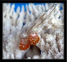 Big Sexy Gold Hoop Sunrise Shell & Puka Shells Earrings