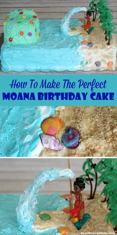 Does your child love Moana? If so, you're going to get the mommy of the year award when you make this Moana birthday cake for her next party!