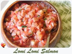 Lomi Salmon Recipe | A Hwaiian favoarite with raw marinated salmon.