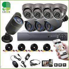 8CH 960H DVR 8PCS 1200TVL Outdoor Weatherproof CCTV Camera Home Security Camera System 8CH DVR Kit+ 1TB/2TB HDD Hard Drive