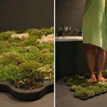 alfombra de baño verde y natural ;)