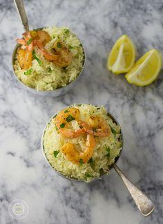 Lemon Garlic Herb Rice with Shrimp 2